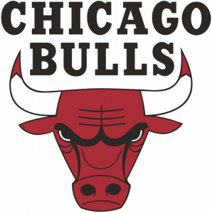 The logo of the Chicago Bulls, NBA team