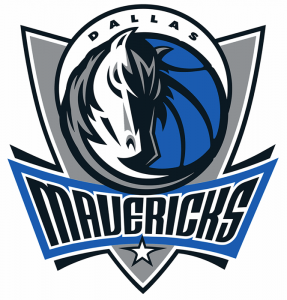 The Dallas Mavericks logo of the NBA team