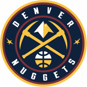 The Denver Nuggets logo, NBA team