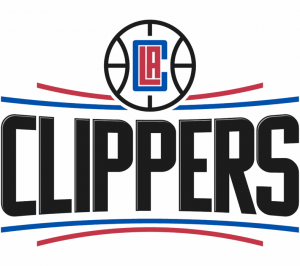 The logo of the Los Angeles Clippers, an NBA team