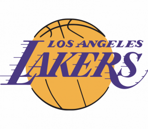 The logo of the Los Angeles Lakers, NBA team