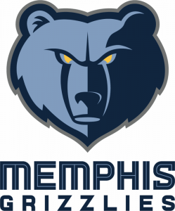 The logo of the NBA team Memphis Grizzlies