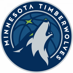 The Minnesota Timberwolves logo, NBA team