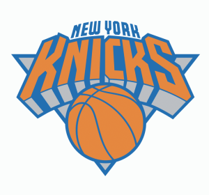 The logo of the New York Knicks, NBA team