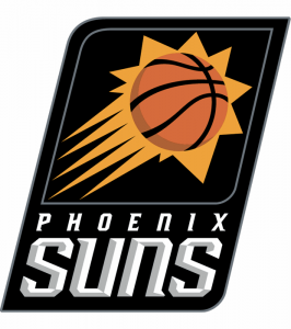 The logo of the Phoenix Suns, an NBA team