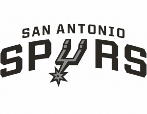 The logo of the San Antonio Spurs, NBA team