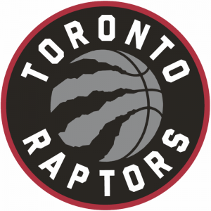 The logo of the Toronto Raptors, NBA team