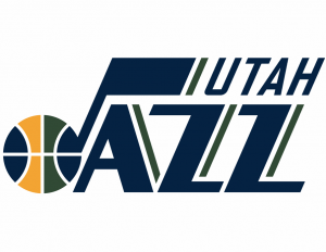 The logo of Utah Jazz, an NBA team
